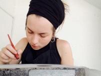 Mathilde Busch et sa pierre litho