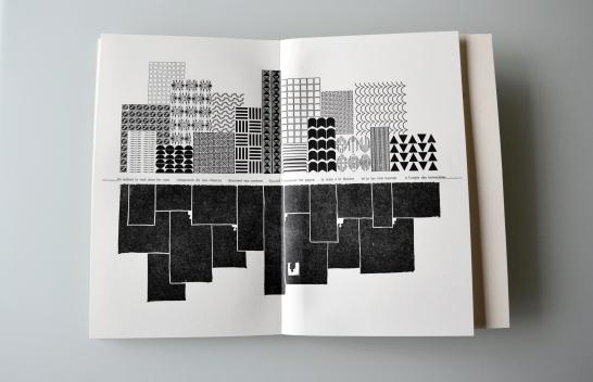 Gravure et composition typo plomb par Esther Szac - Saint-Joseph, Minnesota, États-Unis