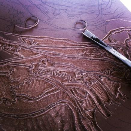 Linogravure.